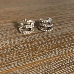 Michael Kors Crystal Pave Huggie Hoop Earrings